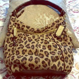 Tignanello leopard print leather purse